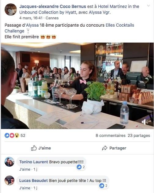 La barmaid de la caravelle participe au concours Elles Challenge